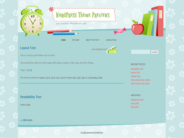 WordPress Theme: Back to School