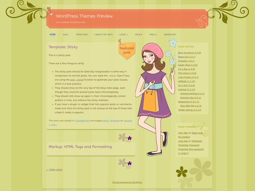 WordPress Theme: Casually