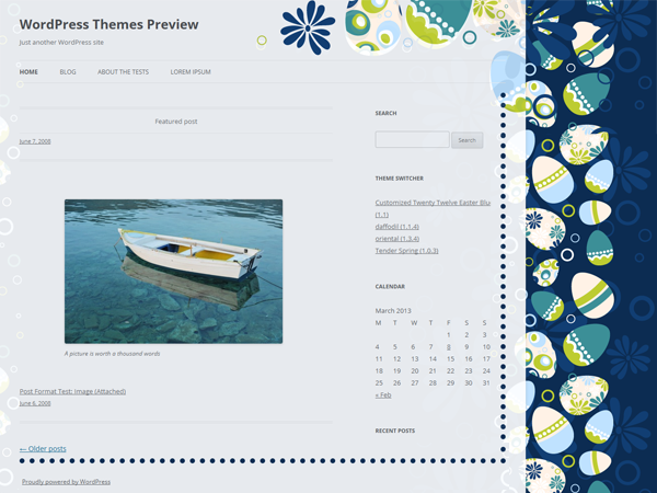 WordPress Theme: Easter Blue