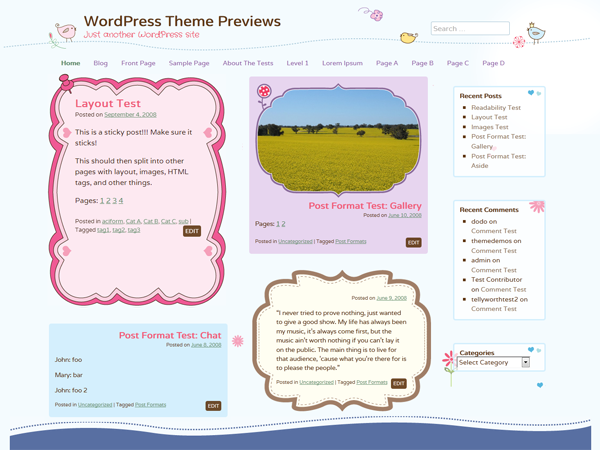 WordPress Theme: Cute Frames