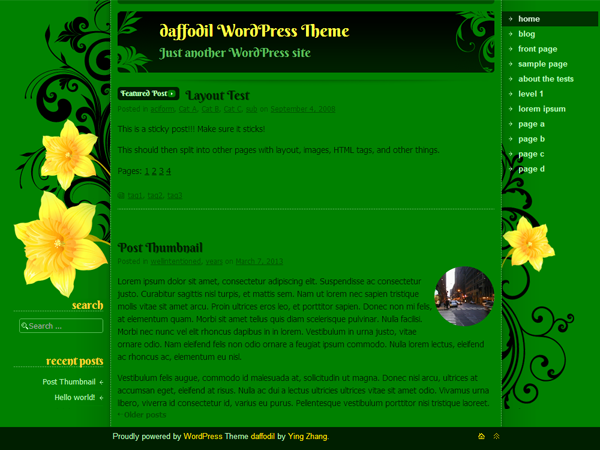 WordPress Theme: daffodil